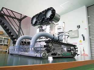 配水池調査清掃ロボットのイメージ
